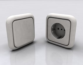 3D Electrical Outlet and Switch