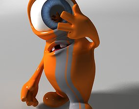 Orange Monster Rigged 3D model