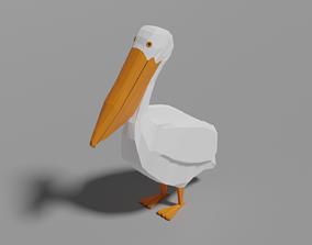 Cartoon Pelican 3D asset