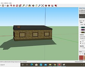 architectural AMERICAN Small HOUSE Low-poly 3D model