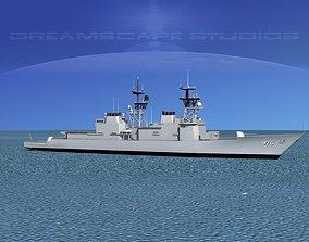 3D Spruance Class DD976 USS Merrill