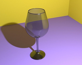 3D Realistic Wineglass