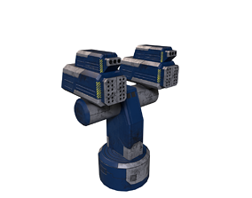Si-Fi Turret blue 3D model