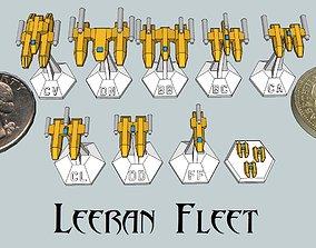 3D print model MicroFleet Leeran Fleet Starship Pack