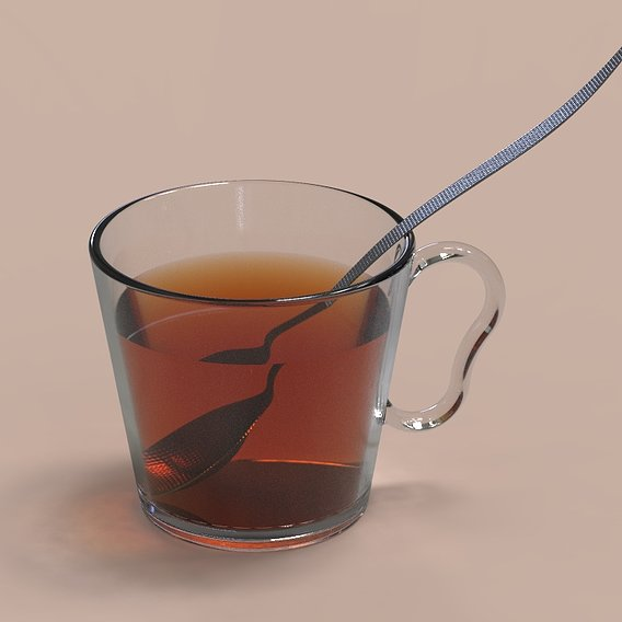 Cup with Tea and Spoon
