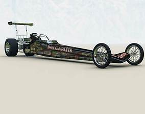 Rear Engine Dragster Studio Max 3D