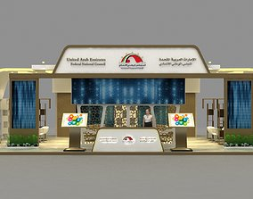Exhibition Stand - 15 x 8 meter 3D model architectural