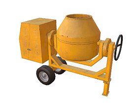 3D model VR / AR ready Concrete Mixer