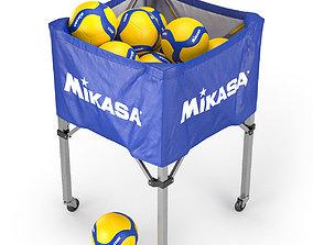 3D Mikasa volleyball cart