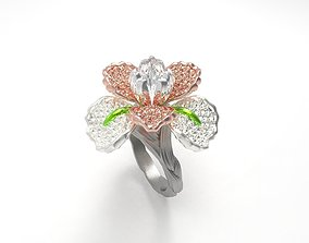 3D print model Special Design Flower Ring