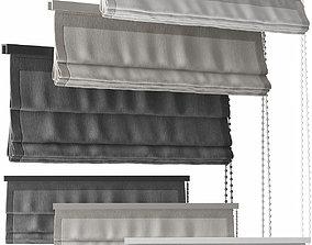 3D model Curtains 41 blinds 3 colors