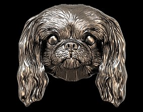 Dog Pekingese relief 3D print model