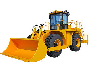 3D Wheel Loader load