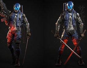 3D model Cyberpunk Samurai