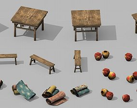 3D Dynasty Barbarians - Tables and chairs 02