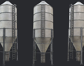 3D asset tower Farm Silo 3 PBR