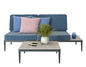 Small Outdoor Sofa 3D