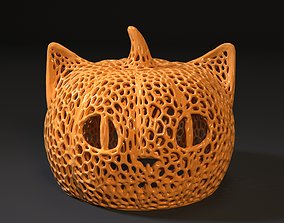 3D printable model cheshire halloween voronoi