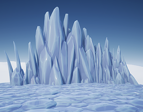 Stylized Ice Formations 3D model