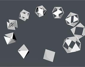 buckminster fuller jitterbug 3D asset
