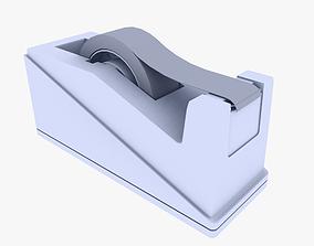 Tape Dispenser 3D model low-poly