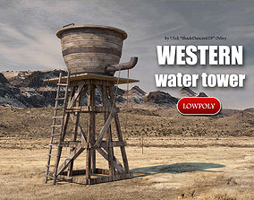 3D model realtime Old Western Water Tower