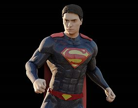 3D model Superman RIGGED Man of Steel or Batman vs 1