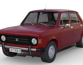 Zastava 101 Red Car Low Poly 3D model