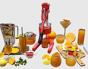 3D model Orange Juice Set