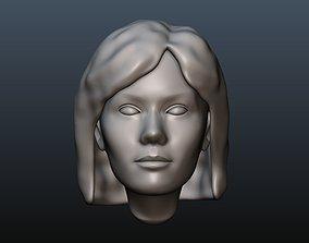 Female head 3 3D print model