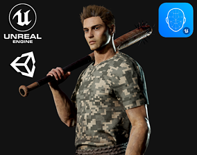 3D model rigged Survival Man - Game Ready