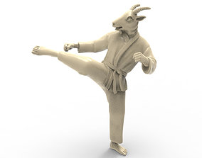 Goat Roundhouse Kick 3D printable model