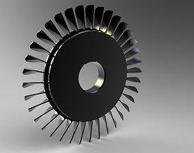 3D model Compressor Blade
