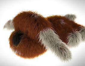 Fluffy dog - toy 3D model