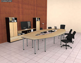 3D asset game-ready space Office Set