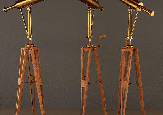 19th C Parisian Brass Telescope
