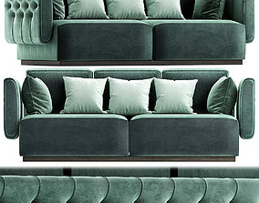 Tufted leather sofa SIMON By OPERA CONTEMPORARY low-poly 1