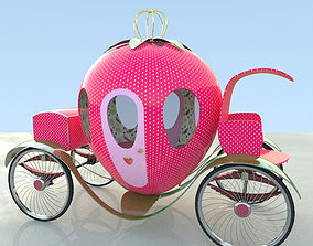 3D spring strawberry cart