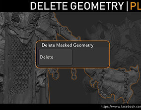 3D Zbrush - Mask and Delete Plugin