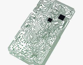 3D asset Electronic circuit board v 2