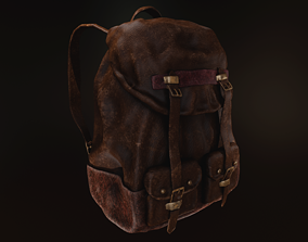 Leather Backpack 3D asset