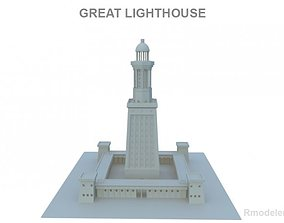 3D model Great Light House of Alexandria