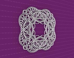 Mandala art pattern 3D model
