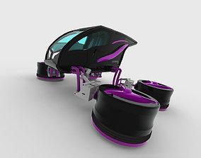 Futuristic Personal Quadropter Aircraft 3D