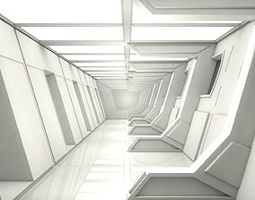 3D model game-ready Sci Fi Corridor
