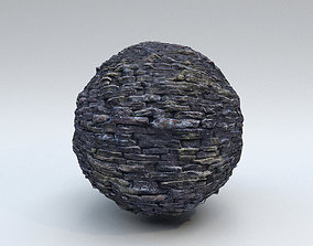 Stone Wall - PBR Material 1 3D model