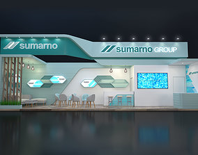 office EXHIBITION STAND PRC 12x3m 3D model