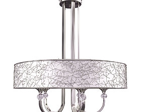 3D Global Direct 5-Light Nickel Drum Chandelier