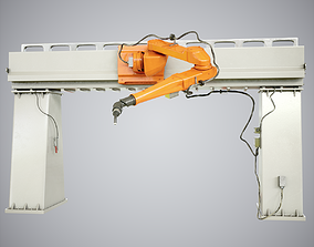 3D Industrial Robot Car Painting