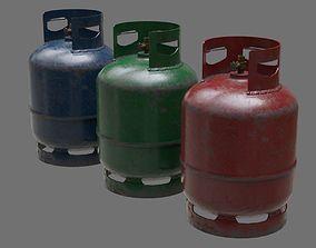 Gas Cylinder 1B 3D asset